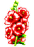 Pixelkunst mit Blumen Stockfotografie