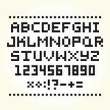 Pixelkunstart-Gussvektor Lizenzfreies Stockbild