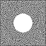 Pixelkunstlabyrinth Lizenzfreie Stockbilder