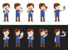 Pixelkunstsatz der Person Bilder machend Lizenzfreie Stockfotografie