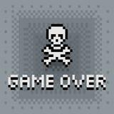 Pixelkunstspiel über Zeichen Lizenzfreies Stockfoto