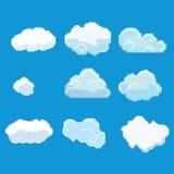 Pixelkunstwolken Lizenzfreies Stockfoto