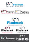 Pixelmark Printing house Logo Stock Photo