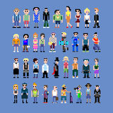Pixelmensen Royalty-vrije Stock Afbeeldingen