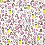 Pixelpatroon vector illustratie