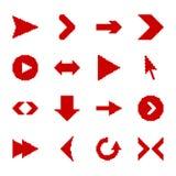 Pixelpfeilikonen vektor abbildung