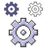 Pixelpictogram van tandrad stock illustratie