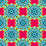 Pixels abstract geometric colorful background vector illustration Royalty Free Stock Photography