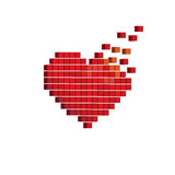 Pixels art 3D heart designs love concept Royalty Free Stock Photo