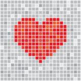 Pixels art tile heart designs love concept Stock Photos
