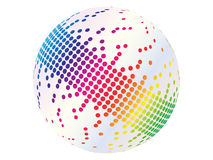 Pixels on ball. Colorful pixels on ball vector illustration Royalty Free Illustration
