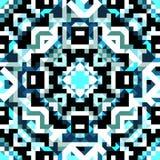 Pixels beautiful abstract geometric seamless pattern vector illustration Stock Photo
