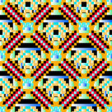 Pixels beautiful psychedelic pattern vector illustration Stock Photos