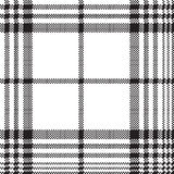 Pixels black and white check plaid seamless pattern. Vector illustration Royalty Free Stock Photos
