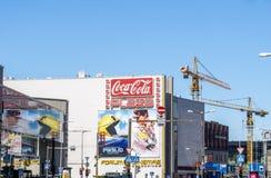 Pixels et mission impossible - panneaux d'affichage 3 de films de Rogue Nation Photographie stock
