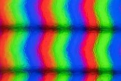 Pixels extrêmes de plan rapproché d'écran d'affichage à cristaux liquides Vraie image Photo stock