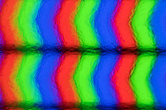 Pixels extrêmes de plan rapproché d'écran d'affichage à cristaux liquides Vraie image Images stock