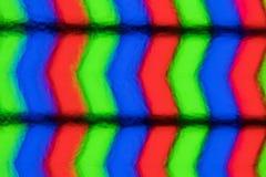 Pixels extrêmes de plan rapproché d'écran d'affichage à cristaux liquides Vraie image Image libre de droits