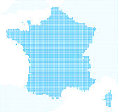 Pixels France map Royalty Free Stock Photography