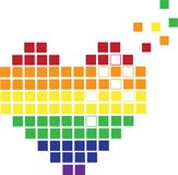 Pixels Heart Stock Photography