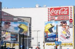 Pixels and Mission Impossible - Rogue Nation movies billboards 2 Stock Image