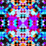 Pixels psychedelic grunge texture geometric background Royalty Free Stock Photo