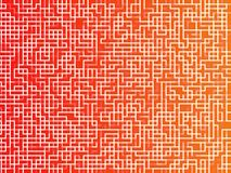 Pixels squares background. Pixels squares in different shades of orange and red tones Royalty Free Stock Image
