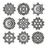 Pixeltoestellen voor de vectorreeks van spelenpictogrammen vector illustratie