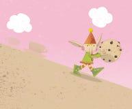 Pixie che cammina con un biscotto Fotografia Stock