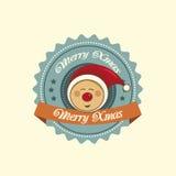 Pixie christmas label Royalty Free Stock Photos