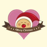 Pixie christmas label Stock Images