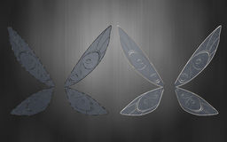Pixie wings Silver and black Stock Photos