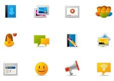 Pixio #7 determinado - media sociales y establecimiento de una red social ilustración del vector