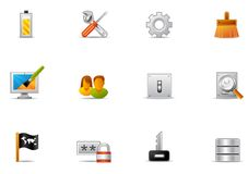Pixio Set 16 - Control Panel Icons Stock Photography