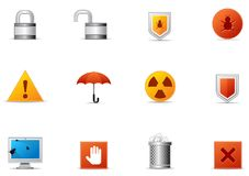 Pixio set #9 - Protection and Security icon Royalty Free Stock Images