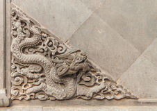 Pixiu wall decorate in summer palace. 23 May 2013 at Summer Palace.Lion texture Royalty Free Stock Images
