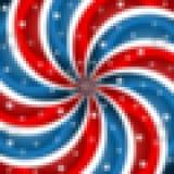 Pixles patriottico Fotografia Stock