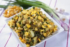 Piyaz Saag Bhaji, petisco do vegetal da cebola imagens de stock royalty free