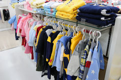 Piyopiyo baby clothes in shop Stock Photo