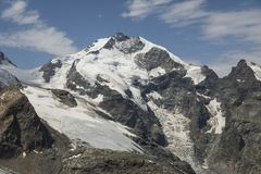 Piz Bernina, Engadin, Grisons. Piz Bernina in Engadin, Graubunden, Switzerland Royalty Free Stock Photo