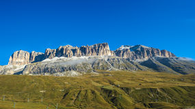 Piz Boe, the highest peak of the Sella Group mountain range Royalty Free Stock Images