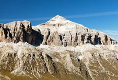 Piz Boe, view of top of Sella gruppe or Gruppo di Sella Stock Images