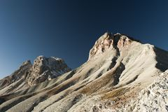 Piz de Puez in the afternoon light Royalty Free Stock Image