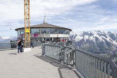 Piz Gloria restaurant, Schilthorn Royalty Free Stock Images