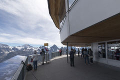 Piz Gloria restaurant, Schilthorn Stock Images