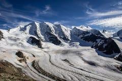 Piz Palà ¼ in de Alpen, Zwitserland royalty-vrije stock foto's