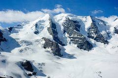 Piz Palu with Moteratsch glacier Royalty Free Stock Photos