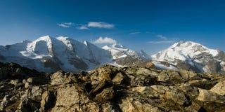 Piz Palu mountain Stock Photo