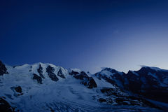 Piz Palu and Piz Bernina Royalty Free Stock Images