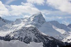 Piz Platta在Grisons (瑞士) 免版税库存照片
